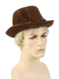 1960's Mens Accessories - Fur Felt Fedora Hat