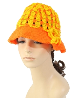 1970's Womens Accessories - Crocheted Hat