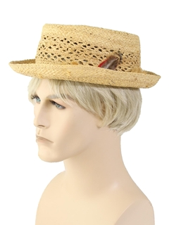 1960's Mens Accessories - Straw Hat