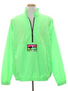 1980's Mens Totally 80s Neon Windbreaker Jacket