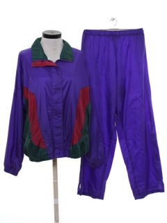 1980's Womens Totally 80s Matching Track Suit