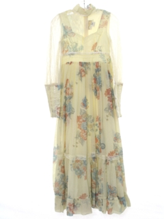 1970's Womens Hippie Cocktail Dress