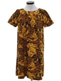 1960's Womens A-line Mod Hawaiian Dress
