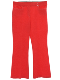 1970's Womens Knit Bellbottom Pants
