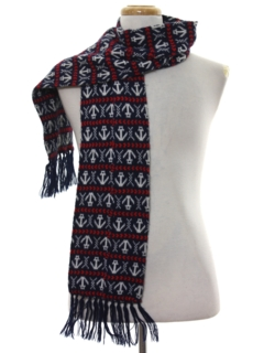 1970's Unisex Accessories - Knit Scarf
