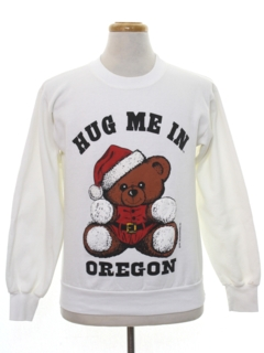 1990's Unisex Wicked 90s Bear-rific Christmas Sweatshirt