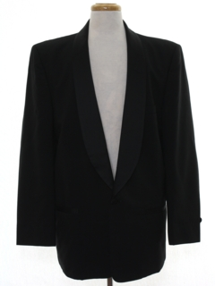 1980's Mens Totally 80s Wool Tuxedo Jacket