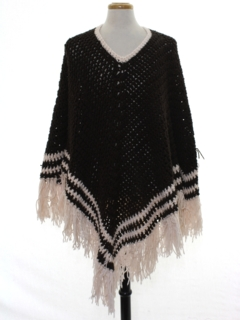 1970's Unisex Hippie Poncho Sweater