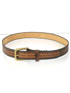 1960's Mens Accessories - Tooled Leather Belt