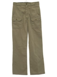 1970's Mens Flared Cargo Pants