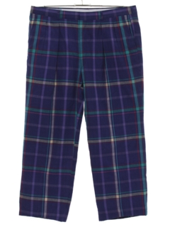 1980's Mens Plaid Golf Pants