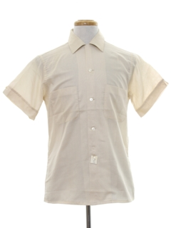 1950's Mens Solid Sport Shirt