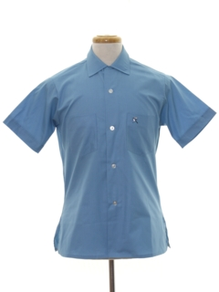 1960's Mens Solid Sport Shirt