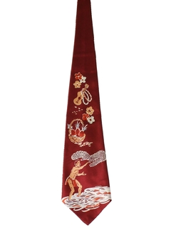 1940's Mens wide Swing Hawaiian Necktie