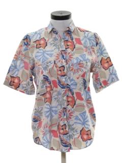 1990's Womens Floral Print Shirt