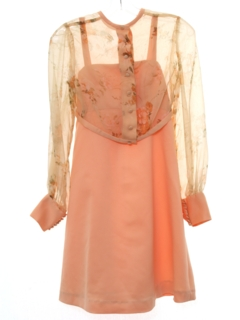 1970's Womens/Girls Mini Prom or Cocktail Dress