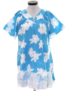 1970's Womens Hawaiian Muu Muu Dress
