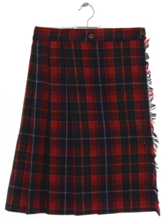 1970's Womens Classic Pleated Wool Skirt