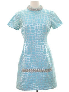 1960's Womens Mod Mini Cocktail Dress