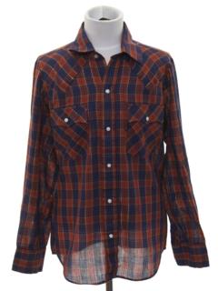 1980's Mens/Boys Western Shirt