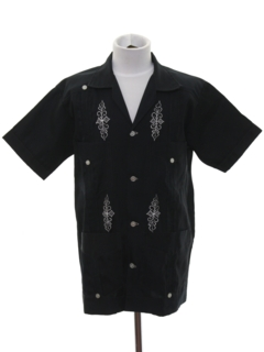 1980's Mens/Boys Guayabera Shirt