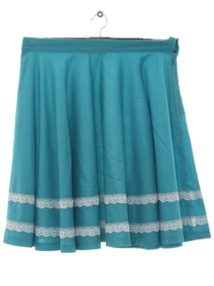 1970's Womens Square Dance Circle Skirt