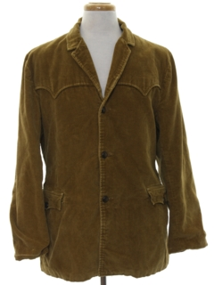 1960's Mens Western Style Corduroy Car Coat Jacket