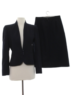 1980's Womens Matching Wool Skirt Suit