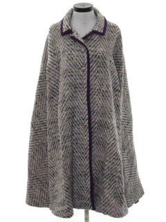 1960's Womens Wool Cape Jacket
