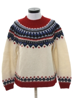 1980's Womens Totally 80s Ski Sweater