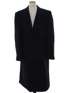 1990's Mens Wool Overcoat Trench Jacket