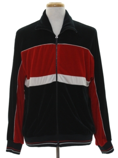 1980's Mens Totally 80s Velour Track Jacket
