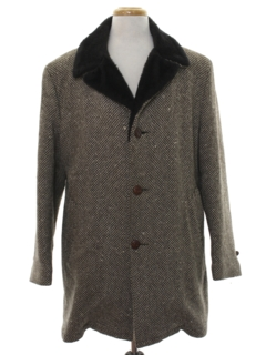 1950's Mens Wool Car Coat Jacket