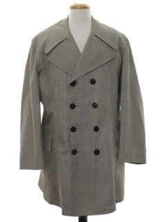 1960's Mens Mod Overcoat Trench Jacket