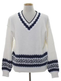 1980's Mens Totally 80s Preppy Sweater