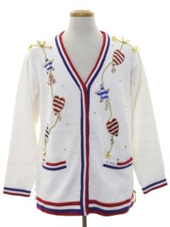 1980's Unisex Kitschy Patriotic Sweater