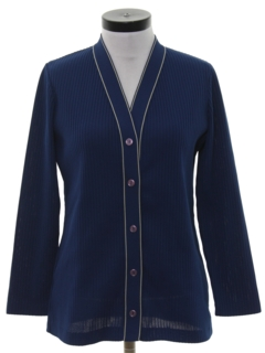 1970's Womens Mod Knit Shirt-jac Shirt