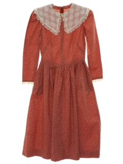 1970's Womens/Girls Hippie Prairie Dress