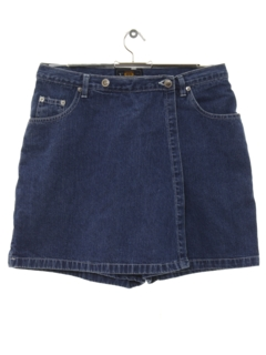 1990's Womens Denim Skort Shorts