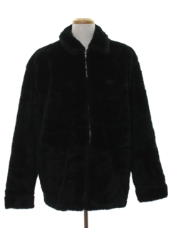 1990's Mens Faux Fur Coat Jacket