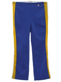 1970's Mens Flared Track Pants
