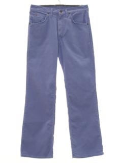 1970's Mens Corduroy Flared Jeans Cut Pants