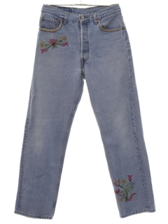 1980's Mens Hippie Style Buttonfly Jeans Pants