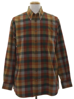 1970's Mens Flannel Sport Shirt