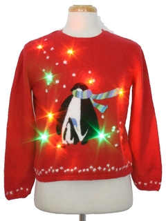 Light-Up Ugly Christmas Sweaters at RustyZipper.Com: Twinkle LED ...