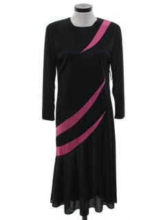 1980's Womens Totally 80s Maxi Cocktail Dress