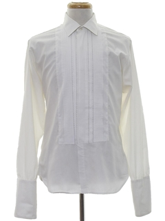 1960's Mens Pleated Tuxedo Shirt