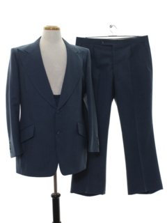 1960's Mens Matching 3 Piece Wool Suit