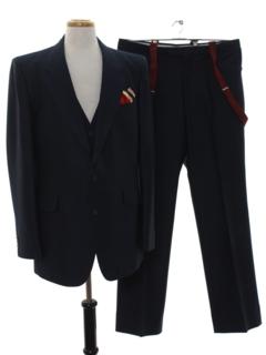 1980's Mens Matching 3 Piece Suit