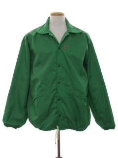 1980's Mens Wind Breaker Snap Jacket
